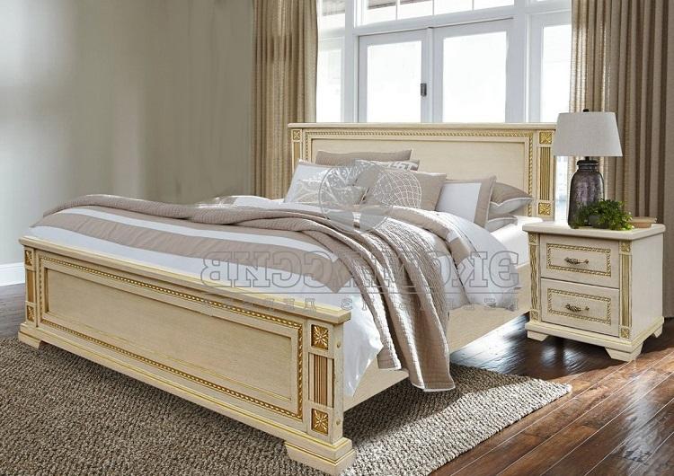 классическая двухспальная кровать с ящиками для хранения