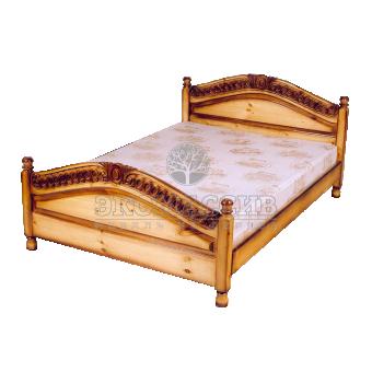 Кровать Горка (резьба-спираль)